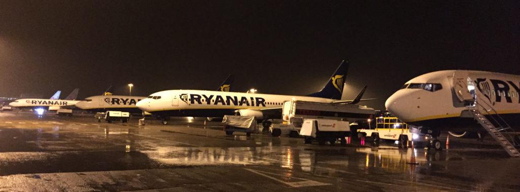 Letadla Ryanair v East Midlands